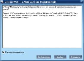 Monit pozwalający określić typ aplikacji