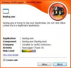 Alert bezpieczeństwa - zrzut z wersji angielskiej